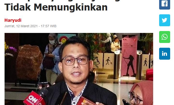 KPK: Hukuman Mati Bagi Koruptor yang Terjaring OTT Tidak Memungkinkan