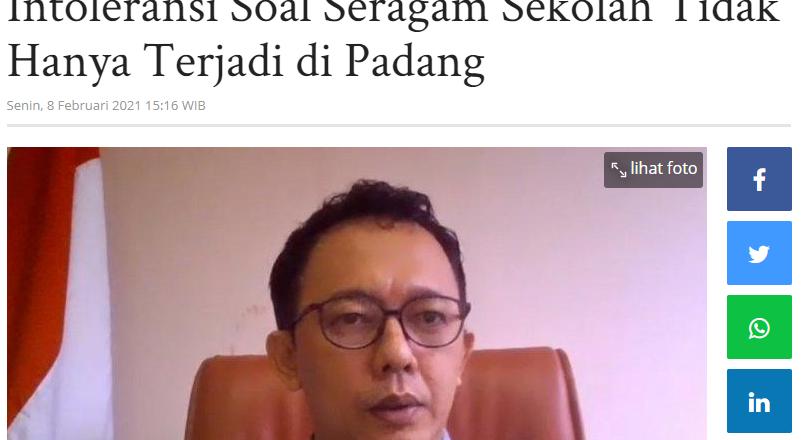 Komnas HAM Ungkap Kasus Intoleransi Soal Seragam Sekolah Tidak Hanya Terjadi di Padang