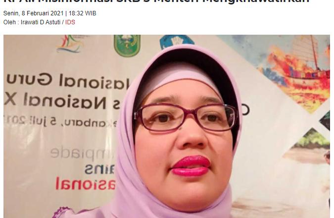 KPAI: Misinformasi SKB 3 Menteri Mengkhawatirkan