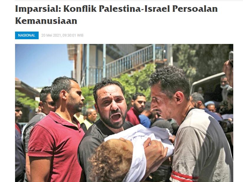 Imparsial: Konflik Palestina-Israel Persoalan Kemanusiaan