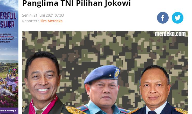 Panglima TNI Pilihan Jokowi