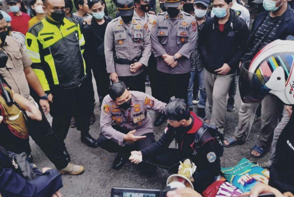 Polisi Pembanting Mahasiswa Ditahan